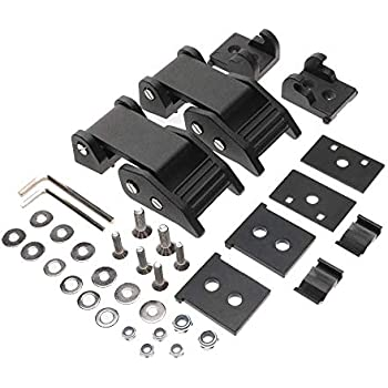 X/&Y Stainless Steel Latch Locking Hood Catch Kit for Jeep Wrangler JL Sports Sahara Freedom Rubicon 2018 2019 Black