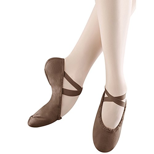 Bloch Damen Pump Ballet Slipper Kakao