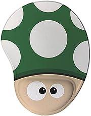 Mouse pad Ergonômico Cogumelo Games Presente Criativo Geek cor:Verde