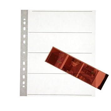 Lote de 25 láminas para Negativos para 120 películas Sin ácido, Almacenamiento Seguro. Papel Encerado de Calidad con Agujeros para Anillas. Formato Mediano.