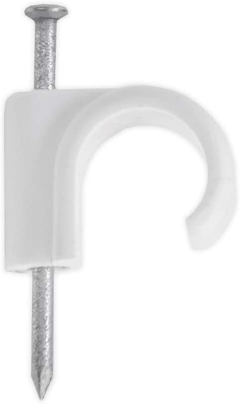 15mm White Cable Pipe Pack Sizes from 5x-50x Snap In Open Clips For Plumbing