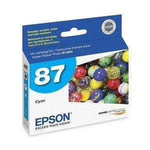 Epson 87 T087220 Cyan OEM Genuine Inkjet/Ink Cartridge - (Epson 87 Ultrachrome Ink)
