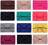 LOYALLOOK 6 Pcs Multi-Style Headbands for Women Fitness Sports Running Workout Wide Stretchy Hair Wrap for Yog