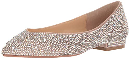 Blue by Betsey Johnson Women's SB-Jude Ballet Flat, Champagne, 12 M US