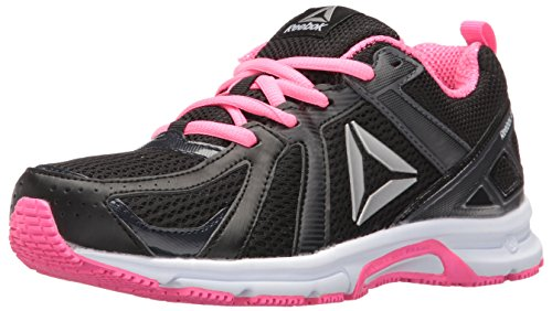 Reebok Women's Runner MT Running Shoe, Coal/Black/Poison Pink/White/Silver-Wide D, 9 M US