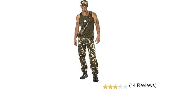 Smiffys Disfraz de Camuflaje Deluxe, Color Caqui, para Hombre ...