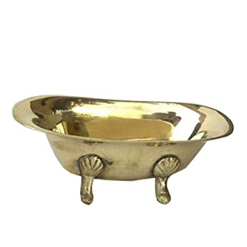 Miniature Solid Brass Claw   Foot Bathtub   Soapdish Accessories   5u0026quot;  ...