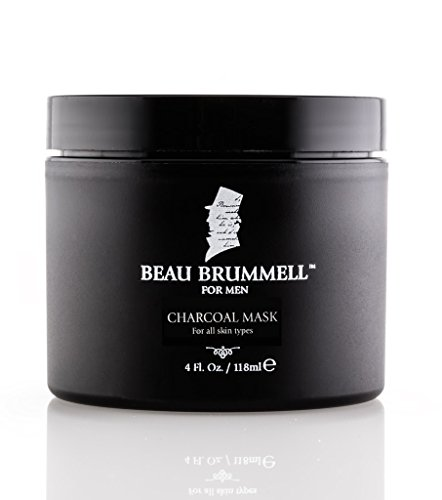 The Gentlemen's Facial Mask by Beau Brummell for Men | An Activated Charcoal Rich Mud Mask | Expertly Formulated Skin Care for Men - 4 fl. oz.