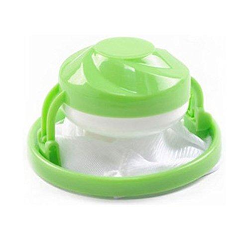 Washing Machine Floating Lint Mesh Bag Hair Filter Net Pouch(Green)