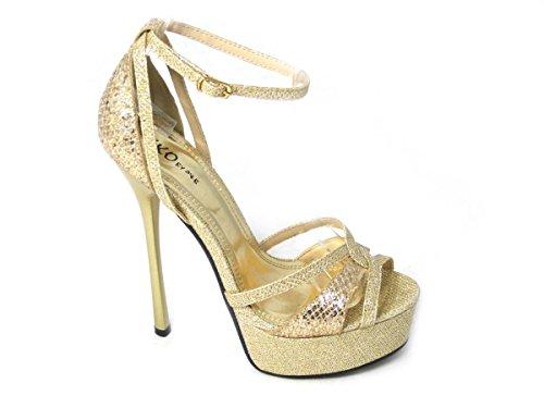 Sandales 4B Gold 92478 femme pour SKO'S dwBYq1d