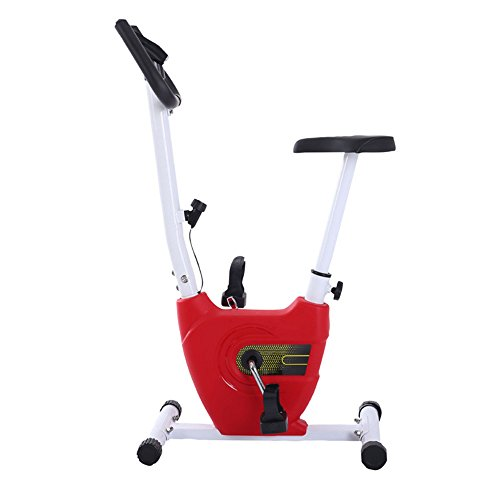 - Indoor Ftness Equipment Stationary Exercise Bike Home Ultra-quiet Two-way Folding Magnetic Control Rotating Spinning Bicycle Mini Ribbon Exercise Bike Calories Burned Indoor Cycling ( Color : Red )