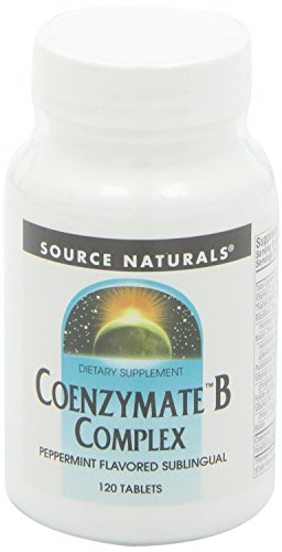 (Coenzymate B Complex Sublingual, Peppermint 120 Tabs by Source Naturals (Pack of 2))