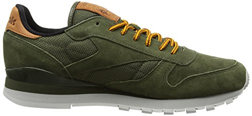 Reebok Classic Leather Ol, Zapatillas para Hombre Verde (Poplar Green / Steel / Semisolargld / Ginger / Pwred)