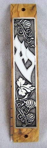 Olive Wood Mezuzah with Scroll by YourHolyLandStore by YourHolyLandStore (Image #4)