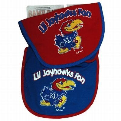 NCAA Kansas Jayhawks Infant Bib 2-Piece Set
