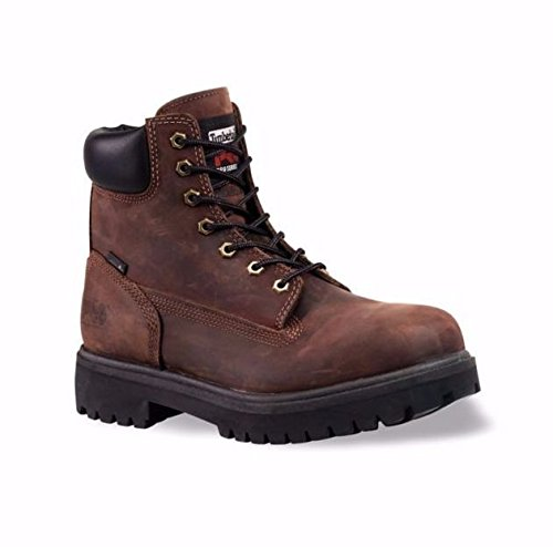 Timberland PRO Men's 38021 Direct Attach 6' Steel-Toe Boot,Brown,9.5 M