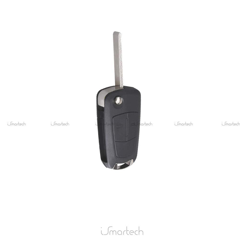 Opel Carcasa para llave mando a distancia llaves 2 botones ks01 Astra H, Corsa D, MERIVA Signum Vectra C, ZAFIRA B