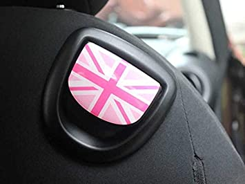 2 St/ück//Set Seat Button Aufkleber Frame Sticker Cover Trim Decals Car Styling Auto Parts for Mini Cooper R Series R55 R56 R57 R58 R59 R60 R61 NR13-07