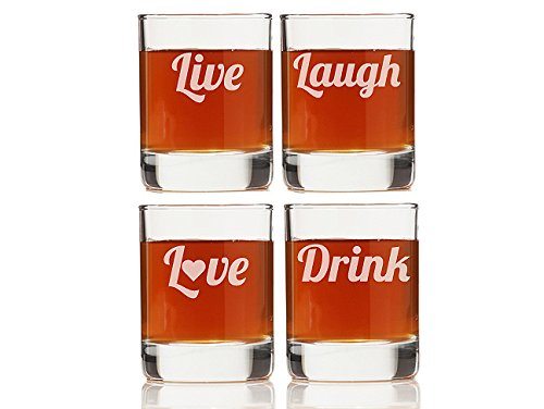 "Chloe and Madison ""Live, Laugh, love, Drink"" Shot Glass, Set"