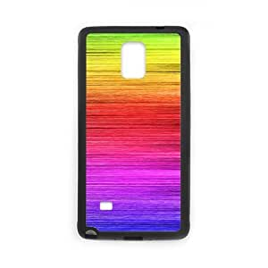 Samsung Galaxy Note 4 Cell Phone Case Black Rainbow Y6A1J