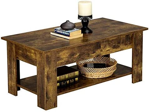home, kitchen, furniture, living room furniture, tables,  coffee tables 1 picture Yaheetech Rustic Lift Top Coffee Table w/Hidden in USA