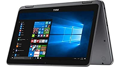 "2017 Newest Dell Inspiron 11.6"" HD Anti-glare Touchscreen Signature Edition 2-in-1 Laptop, Intel Celeron Dual Core Processor up to 2.48 GHz, 4GB RAM, 32GB SSD, Webcam, Bluetooth, Windows 10, Gray"