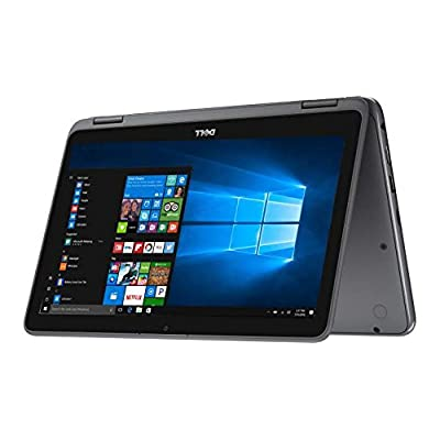 Image of 2017 Dell Inspiron 11.6' HD Anti-glare Touchscreen Signature Edition 2-in-1 Laptop, Intel Celeron Dual Core Processor up to 2.48 GHz, 4GB RAM, 32GB SSD, Webcam, Bluetooth, Windows 10, Gray 2 in 1 Laptops