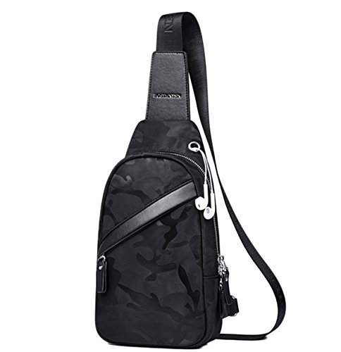 Shoulder Bags A Messenger Backpacks Casual Bag Men's Pockets Canvas Chest qpx6n