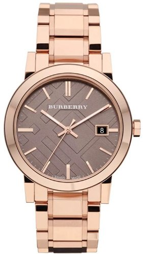 burberry rose gold tone mens watch bu9005 amazon co uk watches
