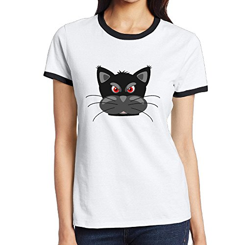 Custom Women's Fashion Two-toned Shirt Angry Black Panther