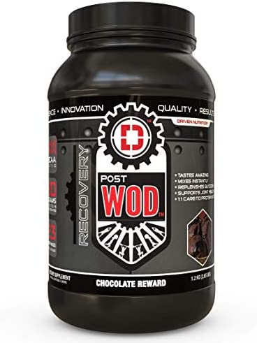 POSTWOD Post Workout Recovery Supplement- Muscle Builder with Whey Protein Powder and Carbs Creatine, BCAA, MCT Oil and Joint Repair Chocolate Reward