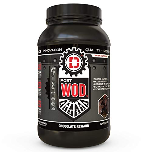 POSTWOD Post Workout Recovery Supplement- Muscle Builder with Whey Protein Powder and Carbs |Creatine, BCAA, MCT Oil and Joint Repair| (Chocolate Reward)