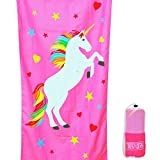 Tuvizo Unicorn Microfiber Towel for Beach Bath Swim Pool & Play - Perfect Unicorn Gifts for Girls (Watch Our Video)