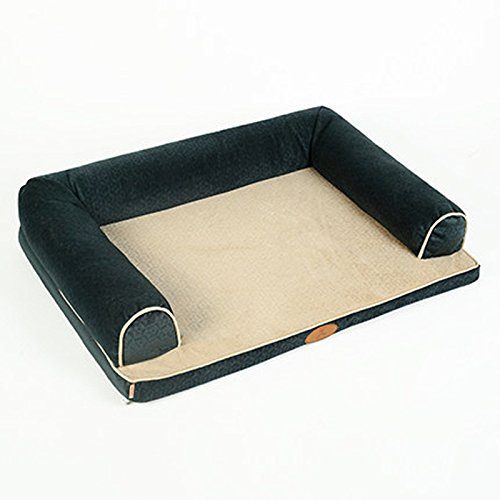 bluee three side Medium Lelepet Pet Dog Detachable Washable Bed Sofa Medium Large Dogs Pet Supplies