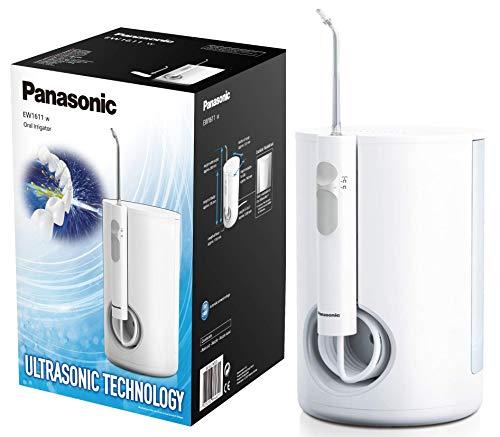 Panasonic EW1611W503 Irrigador bucal eléctrico Estacionario (tecnología Ultrasónica, 10 niveles de potencia, Depósito de…