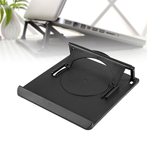 Richer-R Laptop Stand, 360°Adjustable Cooling Cooler Pad Table Fan Stand Holder for Notebook Laptop With Llight Weight Universal Adjustable Ergonomic Portable Adjustable Cooler Stand by Richer-R