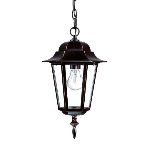 Acclaim 6116ABZ Camelot Collection 1-Light Outdoor Light Fixture Hanging Lantern, Architectural Bronze by Acclaim