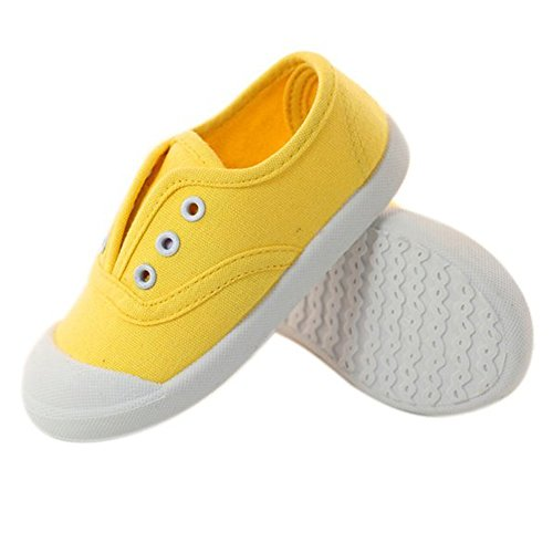 Kikiz Candy Color Kids Toddler Canvas Sneaker Boys Girls Casual Shoes Yellow