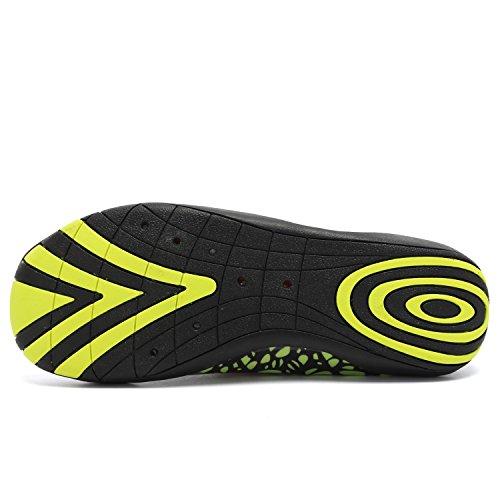 ANLUKE Wasser Schuhe Barfuß Yoga Socken Slip-On für Männer Frauen Kinder Grün