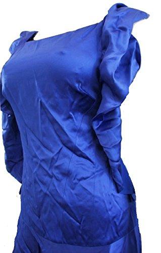Karen MillenDamen Kleid, Einfarbig Blau Blau
