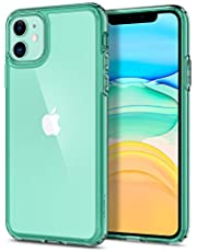 Spigen [Ultra Hybrid] iPhone 11 Case Cover with Hybrid Protection and Shockproof Edge Bumper Designed for iPhone 11 (2019) - Green Crystal