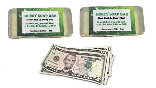 Biblebanz Set of 2 Money Soap Jackpot Cash in Every Bar Practical Joke Gag Gifts