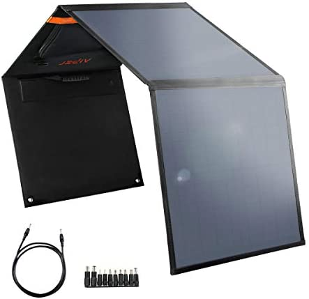 AIPER 60W Solar Panel for Suaoki Jackery Enkeeo Goal Zero Yeti Rockpasls Paxcess Portable Power Station as Solar Generator, Portable Foldable Solar Charger with USB Port