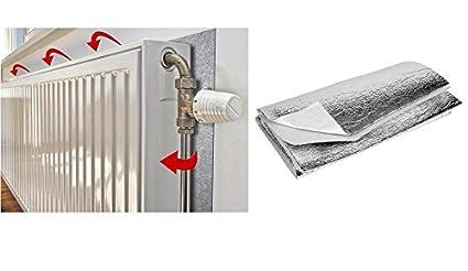 Panel de aluminio reflector para radiador, con hoja de aislamiento y adhesivo para ahorro de