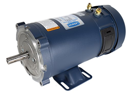 Leeson 109102.00 Low Voltage DC Motor, 56C Frame, C-Face Rigid Mounting, 1HP, 1800 RPM, 48V (Nema 56c Motors)