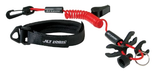 JET LOGIC UL-2 Ultimate PWC Safety Lanyard, Red/Black - Safety Wrist Lanyard