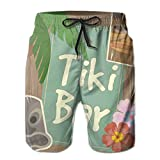 YongColer Swim Trunks for Men, Board Shorts Elastic Waistband Plus Size Underwear for Beach Gym Surf, Summer Tiki Bar Shorts with Drawstring, Fast Dry/Wrinkle Free