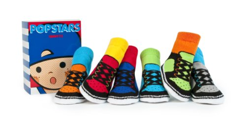 Trumpette Baby Boy's Boys' Sock Set-6 Pairs Sockshosiery, pop stars/assorted brights, 12-24 Months