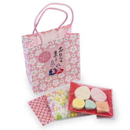 TOKYO MATCHA SELECTION - Hina Matsuri Girls Festival Wasanbon & Konpeito w bag - Wagashi Sugar