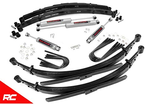 """Rough Country 2"""" Lift Kit Compatible w/ 1977-1987 Chevy GMC 1/2 Ton Trucks SUVs w/ N3 Shocks Suspension System 23530"""